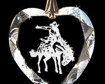 Bucking Bronco Rodeo Jewelry Custom Crystal Necklace Pendant with any Animal or Name YOU Want, Great gift 4H, FFA, Horse Lover, Rodeo, Farm
