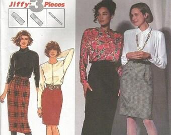 Simplicity 9919 Jiffy 3 Piece Skirt Pattern SZ 10-16