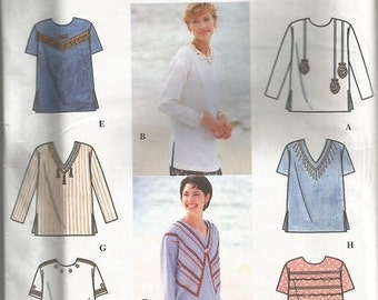 Simplicity 9642 Decorated Top Pattern SZ 11-16