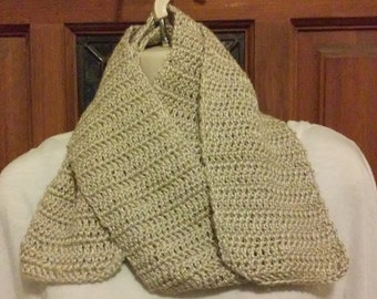 Crocheted Scarf - Taupe