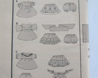 Butterick 3659, Cabbage Patch Kids' Clothes: Dress, Petticoat, Panties, Uncut, No Envelope