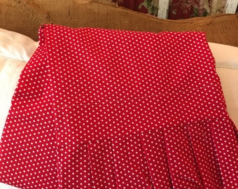 Red and White Polka Dot 100%Cotton Fabric Pillowcase with Ruffle  .. standard size