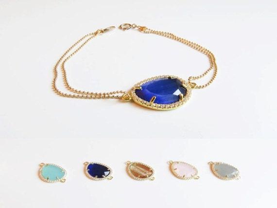 Gemstone Bracelet | Layering Bracelet | Delicate Gold Bracelet | Bridesmaids Bracelet | Bridesmaids Gift | Gifts for her