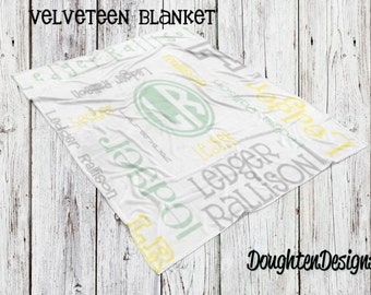 Personalized name blanket, Birth Announcement blanket, Monogram blanket, Custom made blanket, Personalized name blanket, shower gift