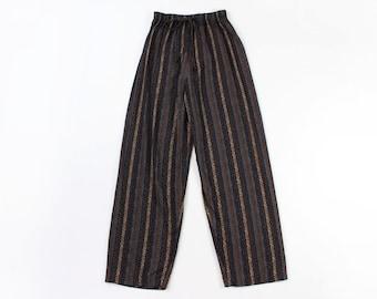 VINTAGE 1990s Printed Pants Drawstring Lounge Small