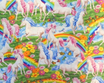 Unicorn Fabric Rainbow Fabric , Girls Fabric Horse Fabric Cotton Fabric Novelty Fabric Timeless Treasures