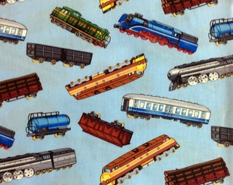 Trains Fabric Model Train Material Timeless Treasures Cotton Fabric
