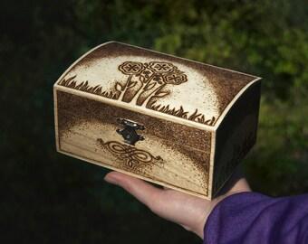 Beautiful burned jewlery box