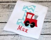 Train Birthday Shirt, Personalized Train Birthday Shirt, Boy's Train Birthday, Birthday Train, Train Shirt, Choose your fabric colors