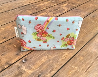 Pencil Case/Cosmetic Bag/ Gadget Case -  Strawberry Shortcake