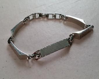 Vintage Lamode Sterling Silver ID Bracelet Ladies
