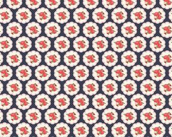 Posy Garden Scallop in Navy by Riley Blake Fabrics - Half Yard