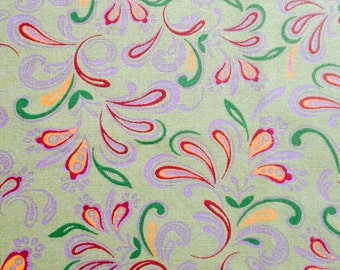 Green wispy floral