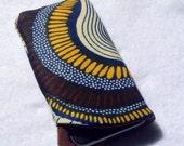 Cell phone sleeve - African swirl print