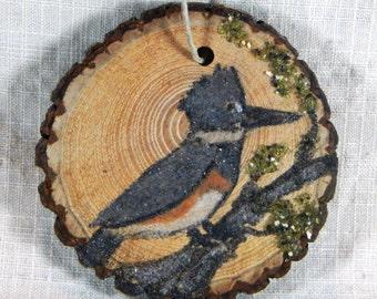 Vintage British Ceramic Christmas Ornament Hand Painted Bird