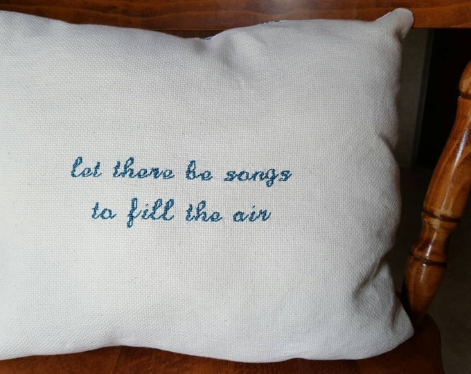 Grateful Dead Ripple Lyric Custom Cross Stitch Pillow Needlepoint