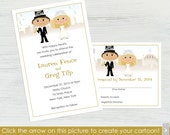 New Years Eve Wedding Invitations and RSVP Cards – Set of 10 - Create a Cartoon You!