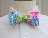 Lilly Bow Tie in Lovers Coral (self-tie)