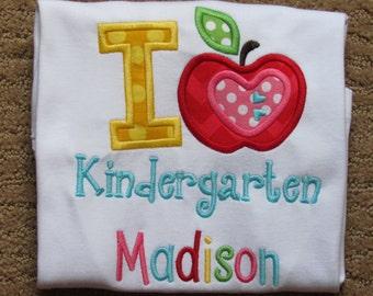 Girls, Back To School, Kindergarten, Appliqued Shirt