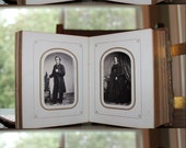 Photo Album w Civil War Vets Tax Stamps Lincoln & Dickinson IDs Cigar Tobacco Ad