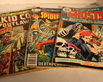 set of 3 Marvel vintage comic books collectibles action suspense