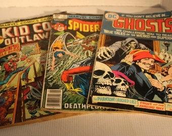 set of 3 Marvel vintage comic books collectibles action suspense