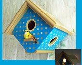 Boys Birdhouse Night Light -Nursery Lamp