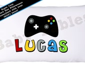 Personalized Pillowcase - Gamer Pillow case, children's pillow case, camping, little boy, room decor, gaming pillow, video game pillow