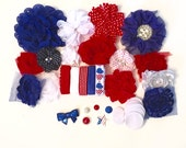 Baby Shower Headband Kit - Patriotic  - Baby Shower Headband Bar - Red White & Blue