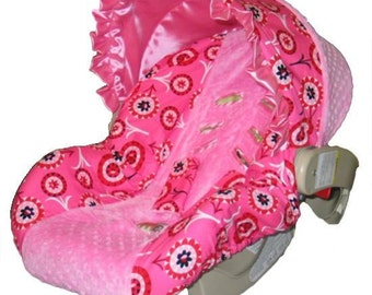 ON SALE - Baby Car Seat Cover, girl car seat cover, -Ships Today Only 1 left