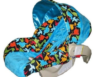 ON SALE - Baby Car Seat Cover, boy car seat cover,Dino Car seat cover-Ships Today only 1 left