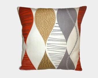 "PAIR Red Brown Cushion Covers Pillows Gray 4 CHOICES Mix Match Designer Throw Shams, Slips PAIR 16"" (40cm)"