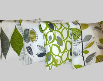 "3 x Cushion Pillow Covers Lime Green Designer Pillows Shams Scatter Slips  Accent 16"" (40cm)"