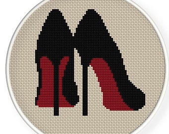 Instant Download,Free shipping,Cross stitch pattern, Cross-StitchPDF,high heel ,shoes,zxxc0115