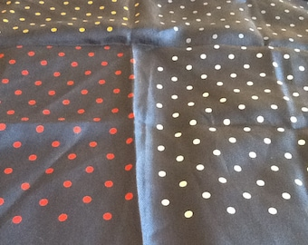 Vintage POCKET SQUARE in Silk with Polka Dots in 4 Colors to be Worn with Different Suits Red, Blue, Gold, White
