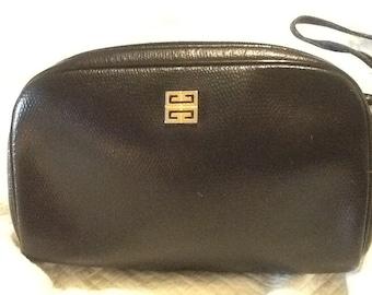 Vintage AUTHENTIC Black GIVENCHY Purse Paris Black Leather