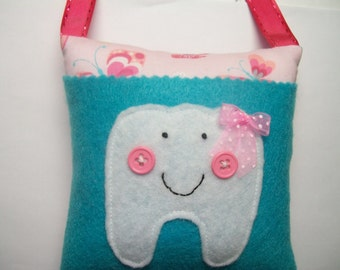 Girls Tooth Fairy Pillow Butterflies