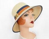 Vintage straw hat, 1960s Betmar, Ecuador, summer hat