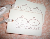 Twins Baby Tags - Hand Made
