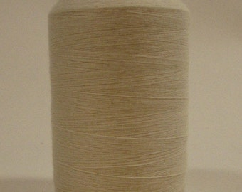 Organic Cotton Thread, 500 yards/spool, Multi-Purpose, GOTS Certified, Natural (undyed)