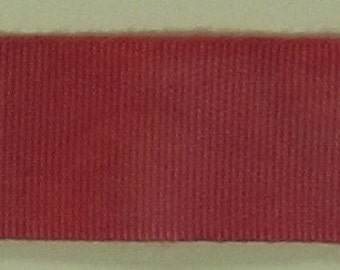 """Ribbon, 100% Organic Cotton, Sold by the Yard, 7/8"""" Wide, Hand-dyed, Brick Red"""