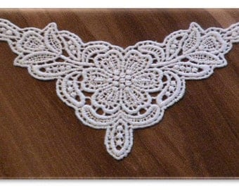 100% Organic Cotton Lace Insert, Natural, Undyed, 65mm