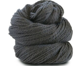 Organic Cotton Yarn Worsted, 150 Yards, Graphite