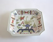 Vintage Asian Hand Painted Ceramic Plate, Tray