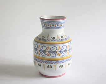 Vintage Hand Painted Ceramic Vase from Spain