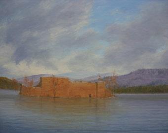 Aviemore    Loch an Eilein ...Rothiemurchus ...oil painting... Scotland