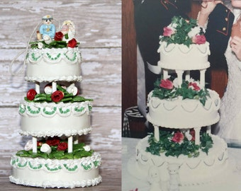 Replica wedding cake ornament