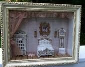 Vintage Miniture dollhouse shadow box