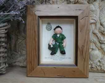 PERSONALISED PARAMEDIC GIFT, Polymer Clay Framed Gift,  Retirement, Promotion, Birthdays M or F