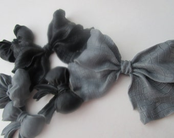 Bowtie Soap Set - gray and black gift, hostess gift, gift for her, gift for teen